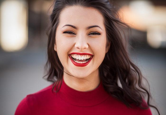 happy university student on campus